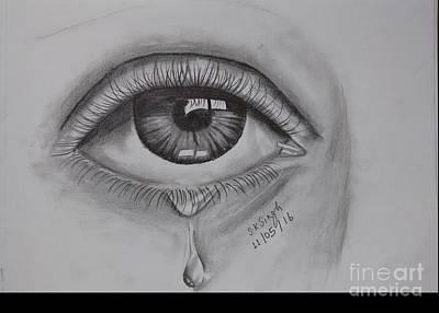 Tears Drawing - Realistic by Suraj Kumar Singh