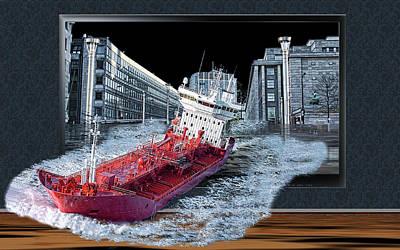 Reality Digital Art - Reality Tv by Angel Jesus De la Fuente