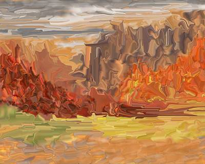 Digital Art - Really Baked On An Autumn Day by David Lane