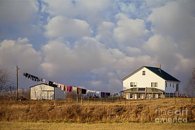 Photograph - Really Long Clothesline by Diane Enright