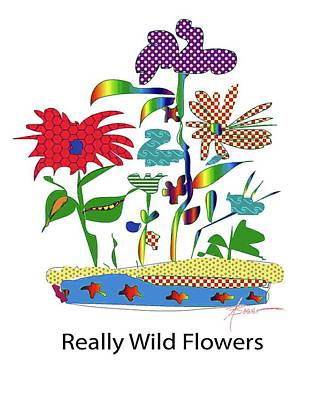 Painting - Really Wild Flowers by Adele Bower