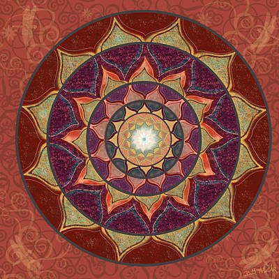 Digital Art - Realm of the Desert Lotus Mandala by Elizabeth Alexander
