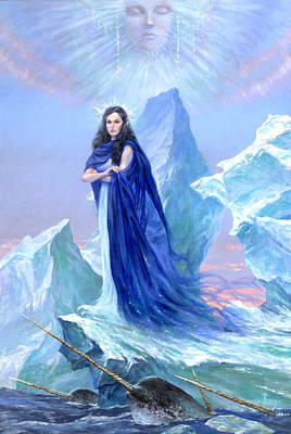Conjurer Painting - Realm Of The Ice Queen by Richard Hescox