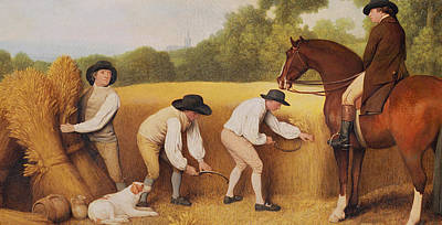 Reins Painting - Reapers by George Stubbs
