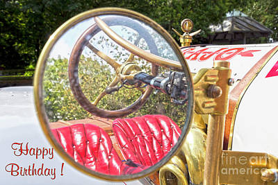 Photograph - Rear View Mirror Card by Terri Waters