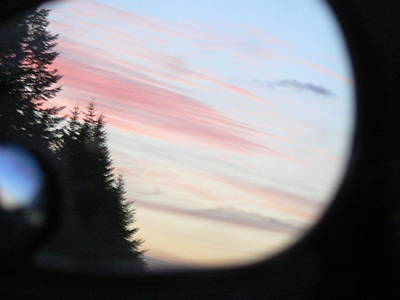 Art Print featuring the photograph Rear View Sunset Sky by Pamela Patch