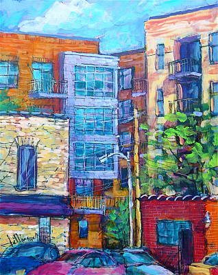 Painting - Rear Windows by Les Leffingwell