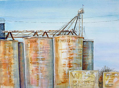 Painting - Rearden Grainery by Lynne Haines