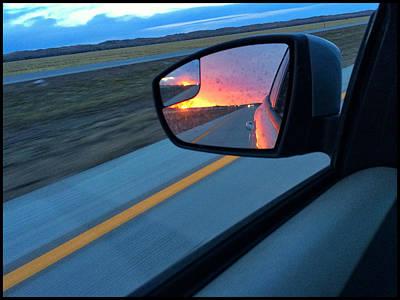 Photograph - Rearview Sunset  by Braden Moran