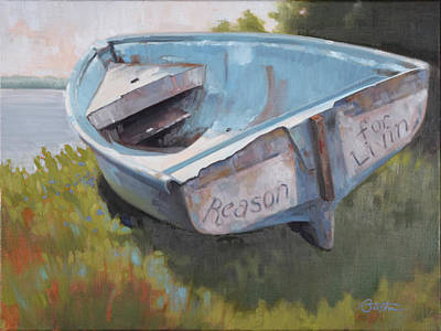 Skiff Wall Art - Painting - Reason For Livin by Todd Baxter