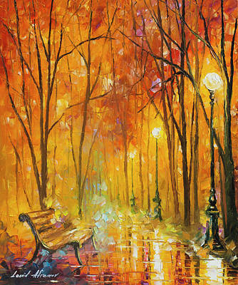 Reasons Of Autumn  Art Print by Leonid Afremov
