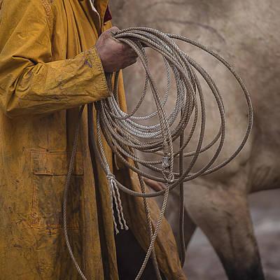 Working Cowboy Photograph - Reata 2 by Pamela Steege