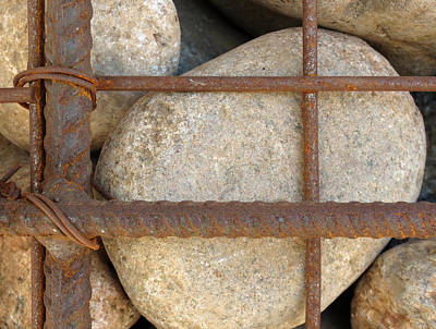 Photograph - Rebar And Rocks by Laurel Powell