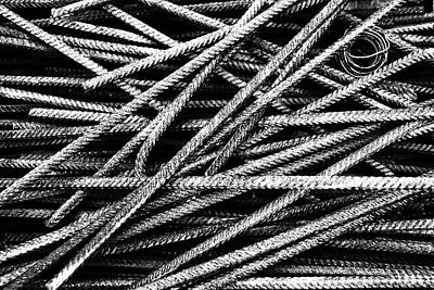 Photograph - Rebar And Spring - Industrial Abstract  by Karen Stahlros