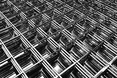 Photograph - Rebar On Rebar - Industrial Abstract by Karen Stahlros