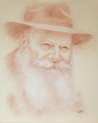 Judaica Drawing - Rebbe  by Estee Klein