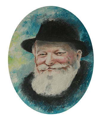 Painting - Rebbe Smiling by Miriam Leah
