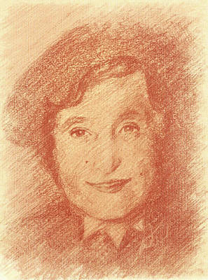 Judaica Drawing - Rebbetzin Chana by Estee Klein