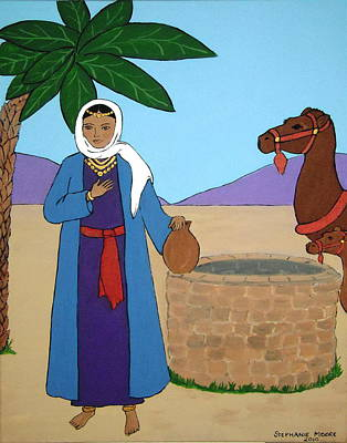 Painting - Rebecca At The Well by Stephanie Moore