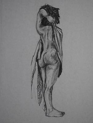 Male Nude Drawing Drawing - Rebecca by Chris  Riley