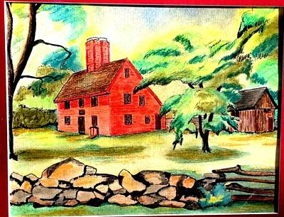Rebecca Nurse Homestead Art Print by Paul Meinerth