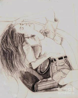 Drawing - Rebecca Waits by Vicki Lynn Sodora