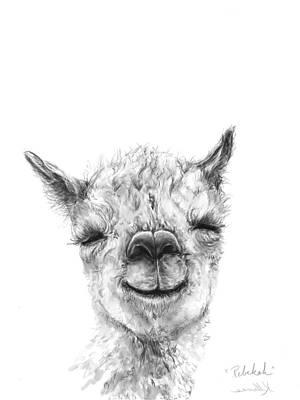 Llama Drawing - Rebekah by K Llamas
