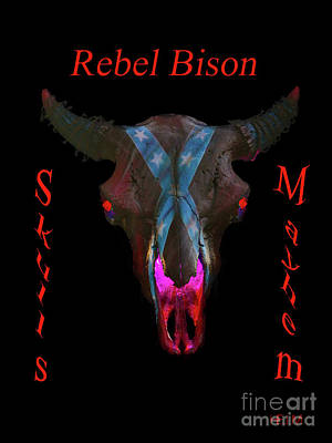 Mixed Media - Rebel Bison by Mayhem Mediums