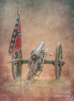 Digital Art - Rebel Flag And Cannon by Randy Steele