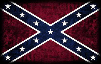 Rebel Flag Art Print by Daniel Hagerman
