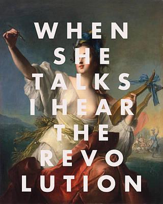 Digital Art - Rebel Girl Lyrics Print by Georgia Fowler