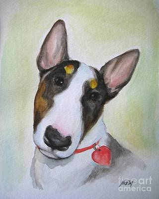 English Bull Terrier Painting - Rebel by Jindra Noewi