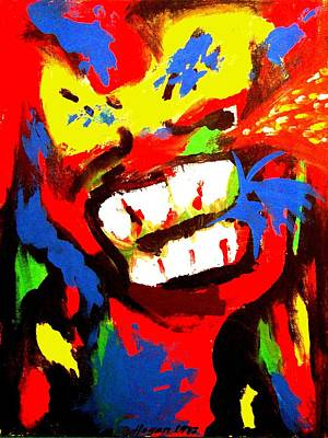 Colourful Painting - Rebel Rebel by Alan Hogan