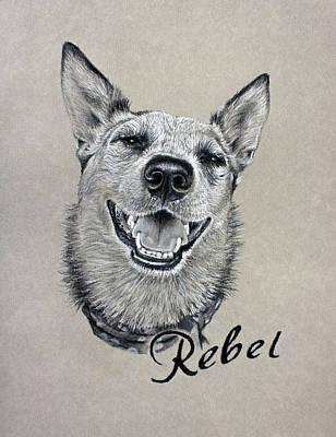 Drawing - Rebel by Risa Kent