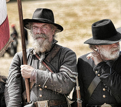 Photograph - Rebel Soldiers by Steve McKinzie