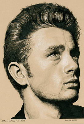 Drawing - Rebel Without A Cause by Rob De Vries