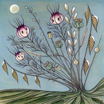 Art Print featuring the painting Rebirth by Kaori Hamura Long