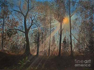 Wildfire Painting - Rebirth by Kostas Koutsoukanidis