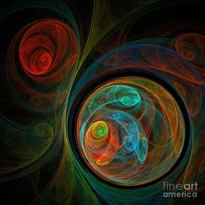 Colorful Abstracts Painting - Rebirth by Oni H