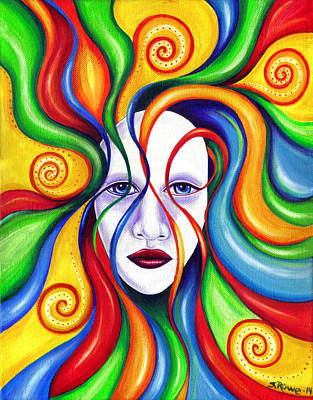 Tendrils Painting - Rebirth by Shawna Rowe