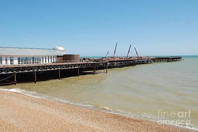 Photograph - Rebuilding Hastings Pier by David Fowler