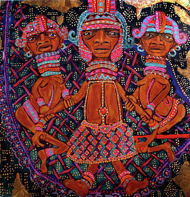 Painting - reCalling the Spirit Attendants by Cora Marshall