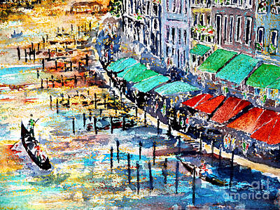 Painting - Recalling Venice 02 by Almo M