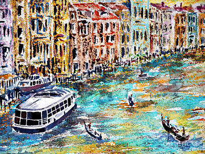 Painting - Recalling Venice 01 by Almo M