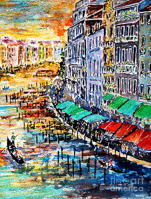 Painting - Recalling Venice 03 by Alfred Motzer