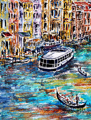 Painting - Recalling Venice 04 by Alfred Motzer