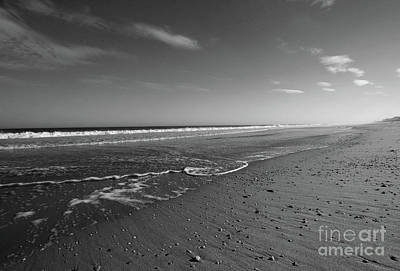 Photograph - Receding Tide Bw by Mary Haber