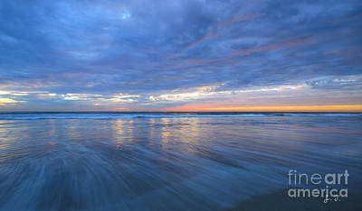 Photograph - Receding Waves Oceanside by John F Tsumas