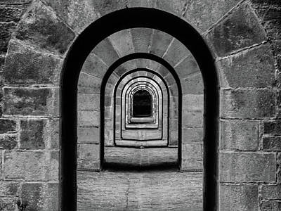 Photograph - Receeding Arches II by Helen Northcott
