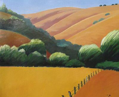 Receeding Hills Art Print